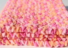 Pink Baby Blanket, Crochet Baby Blanket, Blanket Photo Prop, Handmade Blanket…