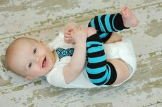 turquoise and black stripe baby leg warmers by knottybabywear  https://www.etsy.com/listing/69622853/turquoise-and-black-stripe-baby-leg?ref=fp_shop&aref=29398623867