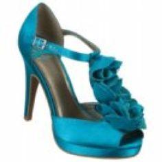 Teal high heels by fergie