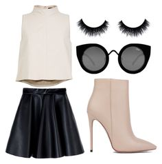"""Chanel Oberlin #3"" by zoefloreslove on Polyvore featuring TIBI, MSGM, Quay and Akira Black Label"