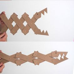 This is a perfect craft for big kids or older children - cardboard monster jaws. Made from cereal boxes, this is a fun, easy craft activity for summer.
