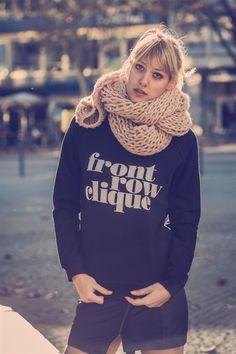 """Pop Rocky """"Frontrow Clique"""" sweater http://shop.poprocky.com"""