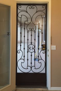 View from the inside - wrought iron security door, security with style