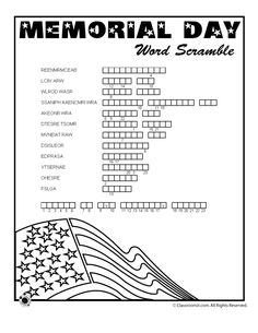 Memorial Day Word Scramble Related Post Pebble art picture sat couple on a bench valentine. 20 magnificent ideas for Memorial Day decor Mother's Day Cootie Catcher Free Printable .