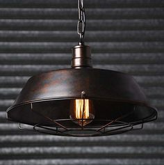 Rusty Rustic Iron Industrial Vintage Retro Pendant Lamp Ceiling Light Bar Cafe in Home, Furniture & DIY, Lighting, Ceiling Lights & Chandeliers | eBay