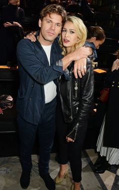 Pin for Later: See All the Celebrities at London Fashion Week Jack Penate and Alice Dellal At the Mulberry show.