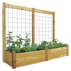 target.com  but i want to make this myself  Raised Garden Bed with Trellis