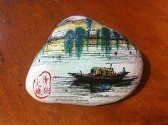 原创手绘师王坤的石画小作,非常有爱!远离工业,远离时尚,返朴纯真的美好!