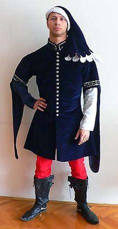 """A French nobleman's costume based on """"A romance of Alexander"""" (1344)"""