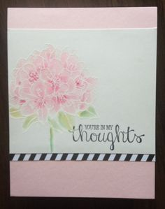 "Iguanastamp! Stampin' Up Best Thoughts hostess set ""water colored"" on Shimmery White card stock"
