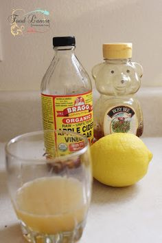 Knockout a cold remedy 1T fresh lemon juice 1T honey 2T organic, raw, unfiltered apple cider vinegar