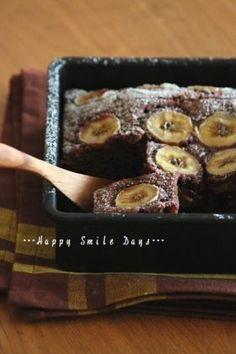 チョコバナナケーキ。[Chocolate Banana Cake]