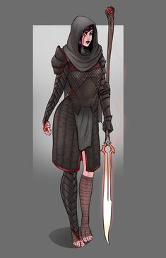 Grimkiller 1 by CallofTheDeep on DeviantArt - Fantasy - Fantasy Character Design, Character Creation, Character Design Inspiration, Character Concept, Character Art, Dungeons And Dragons Characters, Dnd Characters, Fantasy Characters, Female Characters