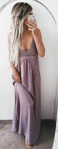 #summer #ultimate #outfits | Lilac Maxi Dress