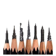 Pencil Art Artist Creates The Most Amazing, Intricate Sculptures From Pencils - UltraLinx - Salavat Fidai is world-renowned for his stunningly intricate pencil sculptures, and it's not surprising, sculptures are hard and time-consuming enough without Sculpture Crayon, Sculpture Art, Bleistift Design, Pencil Carving, Creation Art, Wow Art, Art Plastique, Pencil Art, Amazing Art