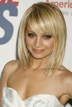 Medium hairstyle with bangs