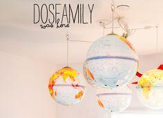 DIY Globe Light Fixture - dosfamily