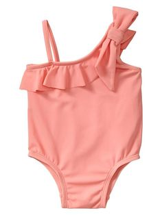Gap | Neon asymmetrical bow one-piece. Like this in the neon yello