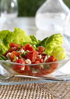 For a decadent and sophisticated Mother's Day side dish, you must try our Creamy Tomato and Goat Cheese Salad!