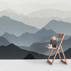 Let your walls take you where you feel most alive 🙌🏻⛰ . Mountain Mural, Happy Art, Declutter, House Tours, Interior Architecture, Wall Murals, How Are You Feeling, Walls, Wallpapers