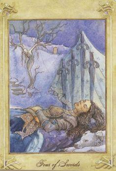 Llewellyn Tarot (by Anna-Marie Ferguson): 4 of Swords
