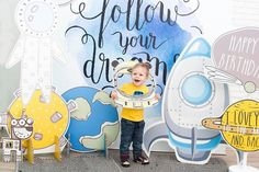 Space Party, Space Theme, Baby Boy Birthday, Boy Birthday Parties, Backdrops For Parties, Kids Decor, Birthday Decorations, Party Themes, Ideas Party