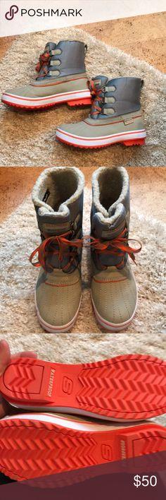 Waterproof Winter Boots Cozy booties! Hardly worn... like new! Skechers Shoes Winter & Rain Boots
