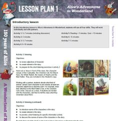 Alice's Adventures in Wonderland Lesson Plans