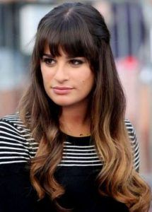 Half up Half down Hairstyles with Bangs