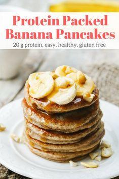 Banana Breakfast Recipes, Breakfast Pancakes, Protein Breakfast, Nutritious Breakfast, Healthy Breakfasts, Pancakes Kids, Breakfast Club, Healthy Meals, Healthy Food