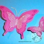 Biglietto Festa della Mamma con farfalle 3D