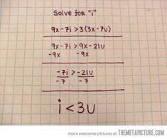 Solving Math With Love…My mom would have loved this and done this for me!