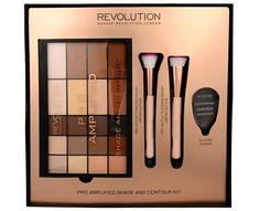 Makeup Revolution Amplified Shade and Contour Contour Brush, Makeup Brush Set, Contour Makeup, Makeup Guide, Makeup Tools, Brush Kit, Makeup Revolution, Contouring