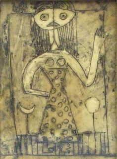 Victor Brauner (1903–1966): Woman, 1945  Encaustic on wood , 9 x 6.5 cm  Gift of Marc Engelhard, Paris, with the help of Les Amis Francais du Musee d'Israel a Jerusalem  © ADAGP, Paris