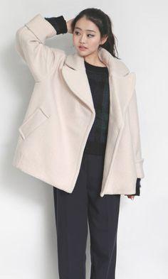 Checked Boyfriend Coat | Oversized light pink coat | Pinterest ...