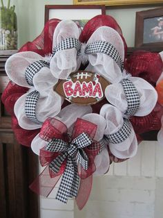 Roll Tide Alabama Mesh Wreath