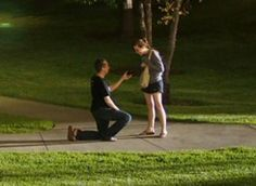 Joel and Jennifer, live engagement caught on camera, Austin, TX