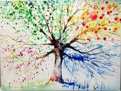 Art Canvas Four Seasons TREE OF LIFE Picture 80x60cm ~ Ready to Hang - $38.00. Available from http://www.wallartroad.com/latest-inspirations/ #wall #art #road #wall #canvas