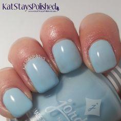 Jordana Playful Pastels - Baby Blue   Kat Stays Polished #jordana @milanicosmetics Jordana Lipstick, Pastels, Swatch, Nail Polish, Nail Art, Nails, Merry, Mint, Baby Blue