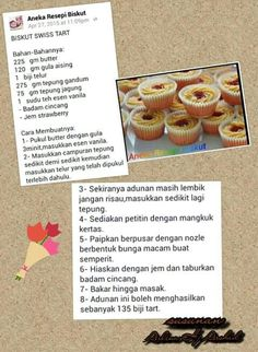Biskut swiss tart Biscuit Cookies, Oreo Cookies, Biscuit Recipe, Indonesian Food, Cooking Time, Cookie Recipes, Food And Drink, Yummy Food, Snacks