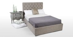 Skye Kingsize Bed With Storage, Owl Grey | made.com