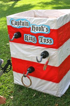 Pirate 1st Birthday - Ring toss game; thinking about using a pallet or a cardboard box. We used a spray painted pallet.✔
