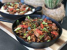 kip ketjap met groenten en rijst - Familie over de kook