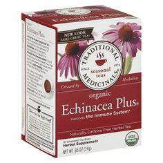 Traditional Medicinals Organic Echinacea Plus Herbal Tea 16 ct