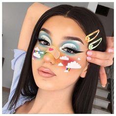 Nyx Concealer, Nyx Dupes, Nyx Cosmetics, Rainbow Makeup, Colorful Eye Makeup, Eye Makeup Art, Movie Makeup, Cool Makeup Looks, Crazy Makeup