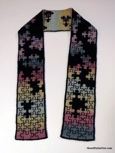 Puzzlin' Scarf Double Knitting Patterns, Knitting Charts, Afghan Crochet Patterns, Knitting Yarn, Knit Patterns, Stitch Patterns, Knitting Ideas, Clothing Patterns, Graph Design