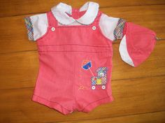 Vintage Cradel Togs Infant Baby Boy Red Plaid by LittleMarin,