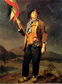 sans-culottes refers to their lower class status; culottes were the fashionable silk knee-breeches of the nobility and bourgeoisie, as distinguished from the working class sans-culottes, who traditionally wore pantalons, or trousers, instead.