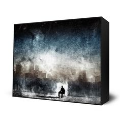 canvas, painting, alone,drama,  dystopian city, dark, Aenema Mini Art Block