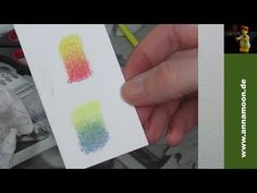 How To blend Polychromos with babyoil - YouTube
